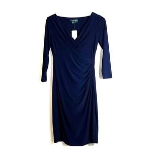 NWT Navy Blue Ralph Lauren Dress size 4 with 3/4 S